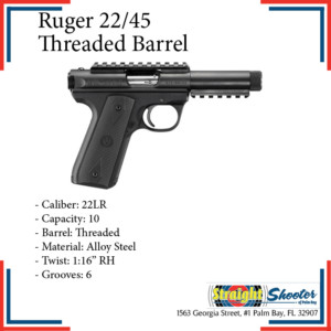 Straight Shooter - Handgun - Ruger 22/45 Threaded Barrel